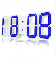Часы настенные   настольные электронные белый+синий (Пластик dd7ffbb6087d7