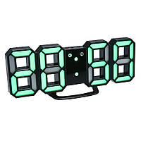 Часы настенные / настольные электронные цифровые светящиеля светодиодные черный+зеленый (Пластик, LED) Best Time
