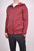 Кофта спортивная мужская (55проц. polyester, 45проц. cotton) цв.бордовый EXUMA 271240 Размер:48,50