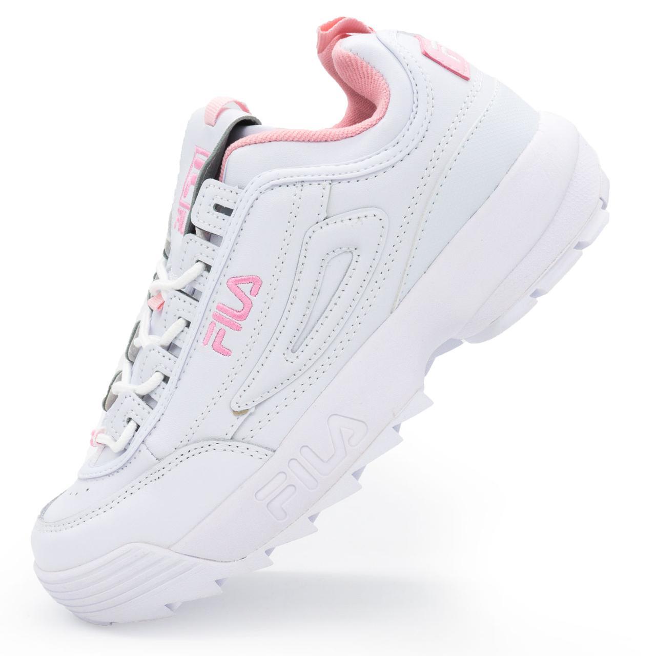 d54274e7 Женские белые с розовым кроссовки FILA Disruptor 2. Топ качество! р.(36