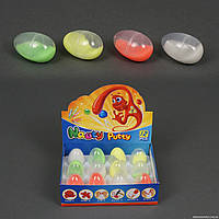 Жвачка для рук 772-120 (48) желеобразные, неон, 12шт в блоке /ЦЕНА ЗА БЛОК/ 4 цвета