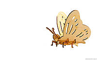 """3d деревянный конструктор 605 """"Бабочка"""" в пленке 19см-13,4см-0,7см"""