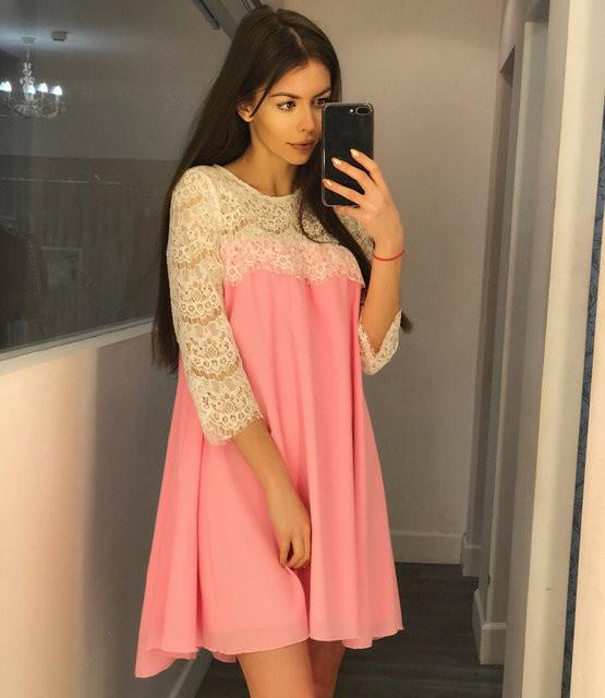 Платье короткое летнее для беременных (К15934)