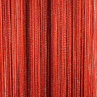 Нитяные шторы с люрексом (Красный с серебряным люрексом)