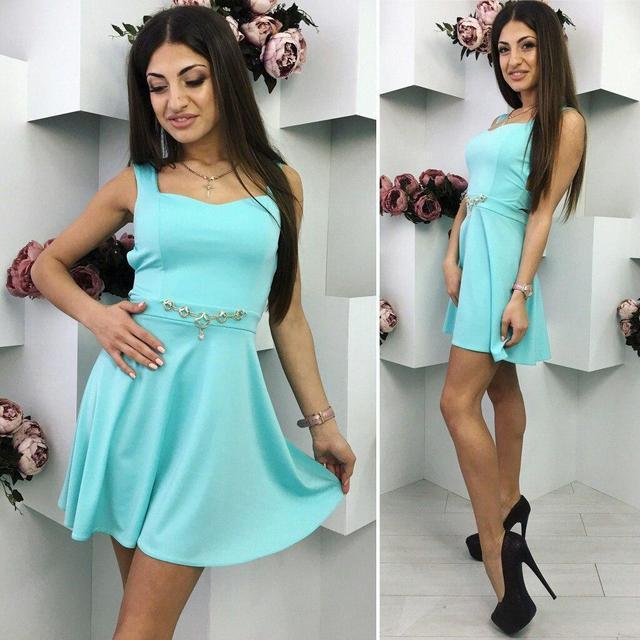 Платье женское короткое летнее «Нежность» (К16481)