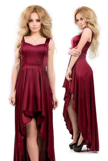 Вечернее шелковое платье «Армани» копия (К16699)