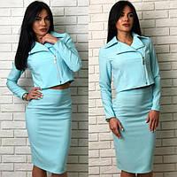 6f464ccdcbb Костюм женский  юбка-карандаш и пиджак (К17534)