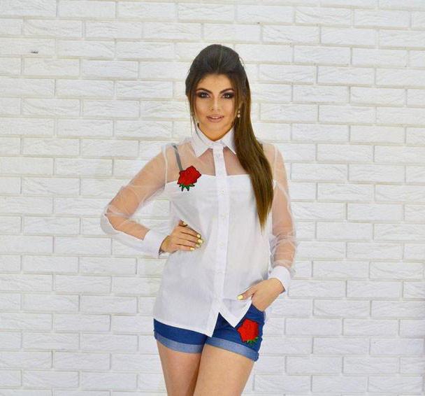 Нарядная женская блуза с вышивкой «Роза» (К17598)