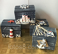 Набор шкатулок деревянных, фото 1