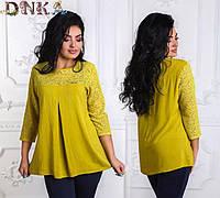 Блуза женская с гипюровой отделкой (К17616)
