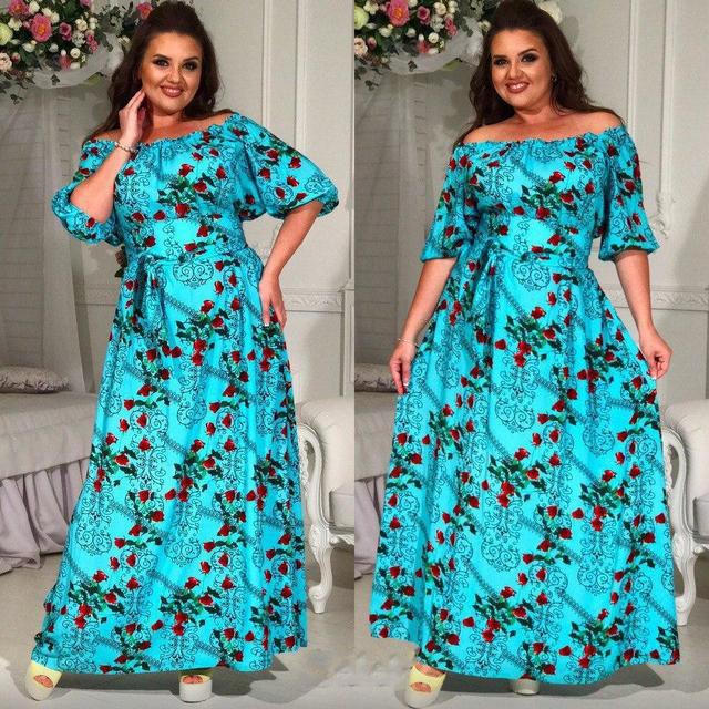 f67e1ddba56 Купить Летнее длинное платье из штапеля батал (К17666)  ...  в Украине