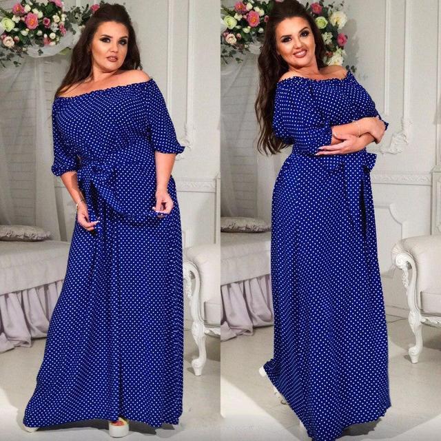 Купить Летнее длинное платье из штапеля батал (К17666)  ...  в Украине c9ae251baa2