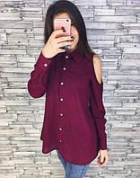 Шелковая женская рубашка на пуговицах (К17796), фото 1