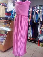 Платье женское в пол Шифон Гофре р. 42 - 46