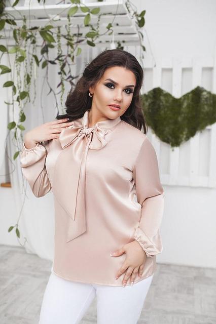 9de58652882 Купить Нарядная шелковая блуза с бантом (К17886)  ...  в Украине