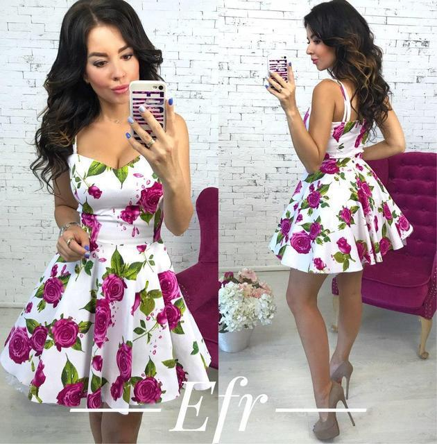 9062a7f0099f571 Купить Летнее короткое платье с пышной юбкой (К17953) [...] в Украине