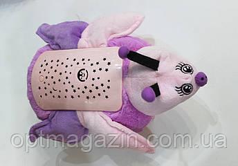 Нічник зоряне небо корівка рожева, фото 2