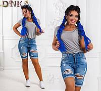 Летние женские джинсовые шорты Турция (К18333)
