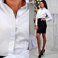 Стильный женский костюм: юбка и рубашка (К18373)