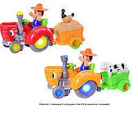 музыкальная игрушка детская транспорт HD963 (1024264) игрушечная машинка трактор с прицепом,чел,животн,в коробке 35*13*18 см.