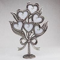 Семейное дерево букет сердец на 6 фото (41 см) 195N