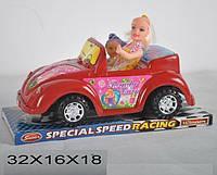 Кабриолет для кукол 299-1 с куклами, инерционная 2цв.пласт.32*16*18 ш.к./36/