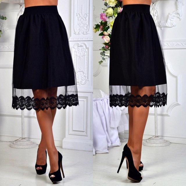 Стильная женская юбка с завышеной талией (К18602)