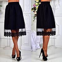 Стильная женская юбка с завышеной талией (К18602), фото 1