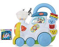 Музыкальная игрушка детская паровозик 1659E муз- свет, в коробке
