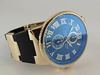 Часы - Ulysse Nardin - Le Locle на черном каучуковом ремешке, цвет корпуса золото
