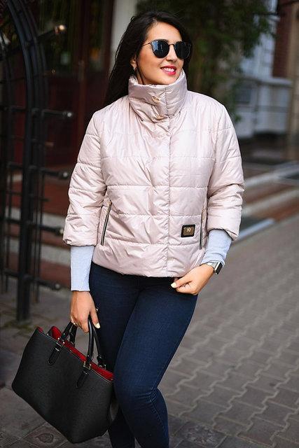 Куртка женская короткая с воротником-стойкой батал (К18658)