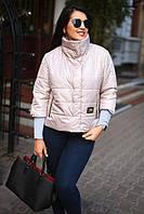 Куртка женская короткая с воротником-стойкой батал (К18658), фото 1
