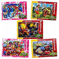 Пазлы 54 деталей малі,картонні enfant 160 нові, -------------------------
