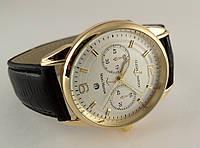 Мужские часы - Ulysse Nardin - LeLocle на черном ремешке, цвет золото