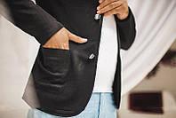 Классический мужской пиджак на пуговицах (К18903)