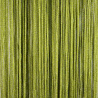 Шторы нити с люрексом (оливковый с серебряным люрексом)