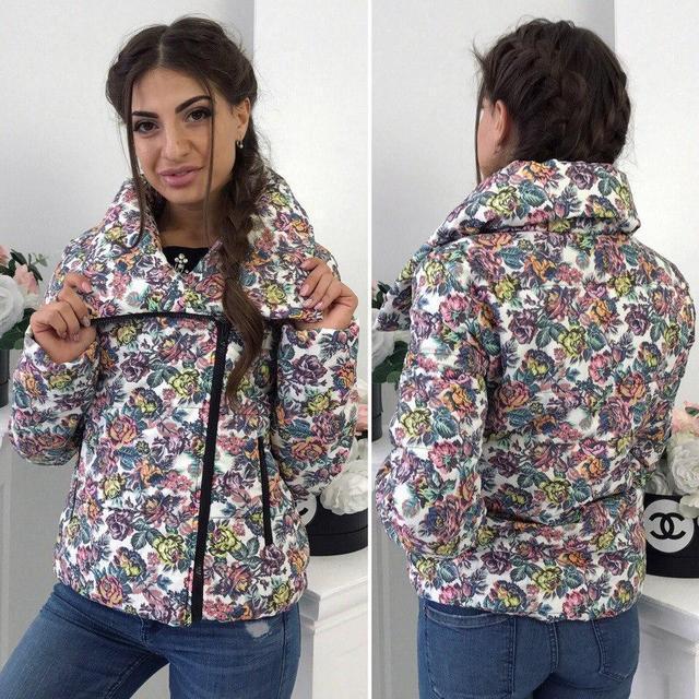 Яркая демисезонная короткая куртка (К19066)