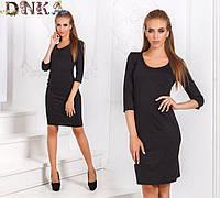 Платье женское короткое черное (К19085)