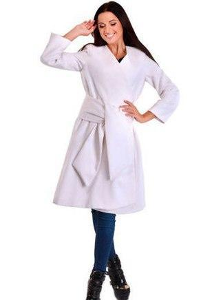 Стильное длинное кашемировое пальто (К19172)