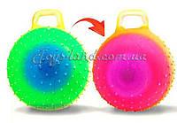 Мяч для фитнеса ND103 цвет радуга, гири с шипами 45 см. 350г