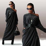 Платье женское длинное с поясом (К19310)