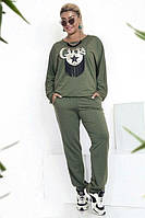 Осенний прогулочный костюм батал (К19328), фото 1