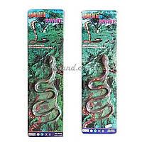 Животные игровая фигурка резиновые-тянучки длина змеи 70 см. , на планшетке, арт. 001-89