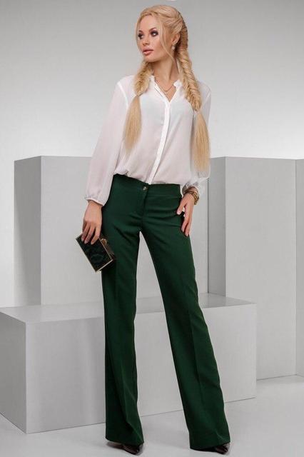 Клешеные женские брюки (К19537)