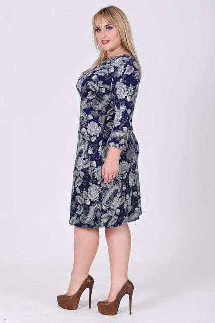 Платье миди женское с узором в ассортименте (К19557)