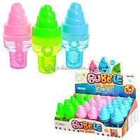 Мыльные пузыри 1051 (по 24 штуки мороженое, 3 цвета, в боксе