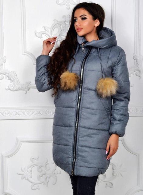 Куртка женская длинная «Зима» (К19648)