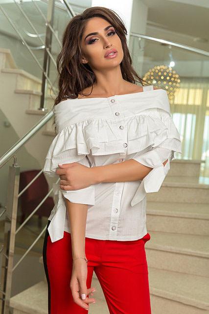 Блуза женская летняя с открытыми плечами (К19680)