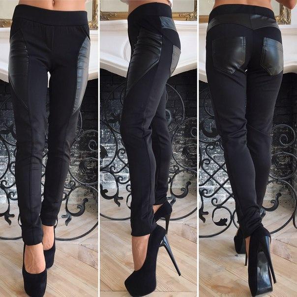 Лосины женские из стрейч джинса (К19722)