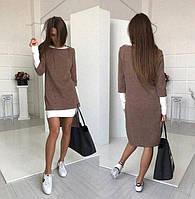 Оригинальное женское платье-двойка (К19745), фото 1